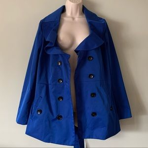 Sandro Studios Double Breast Trench Coat Sz Large